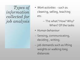 Job Analysis Job Analysis And Job Design Ppt Video Online Download 19