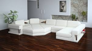 white modern couches. Modern Leather Sectional Sofa - 2315 White Couches N