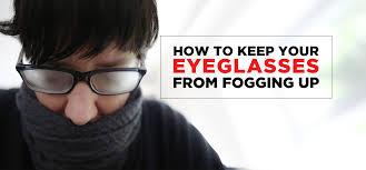 eyeglasses with fog