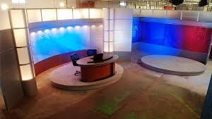 tv studio furniture. Complete Dual Set Small Broadcast Design Furniture And Background Walls Tv Studio