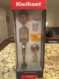 kwikset front door handleKwikset Arlington Satin Nickel Handle Set Front Door Entry Lock W