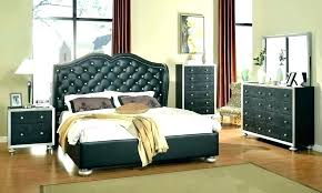 Black And White Tufted Headboard White Tufted Bed With Crystals ...