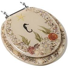 gold foil toilet seat. comfort seats c1b6r9-shch acrylic toilet seat with chrome hinges, round, seahorse gold foil e