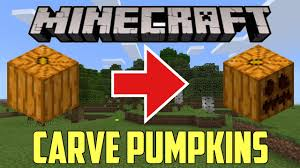 Minecraft How To Carve A Pumpkin