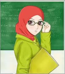 Hasil gambar untuk gambar kartun muslimah mengajar