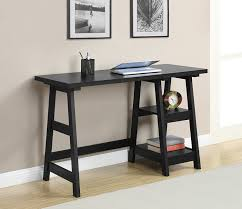 amazon home office furniture. Amazon Com Convenience Concepts Designs2go Trestle Desk Black Home Office Furniture