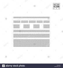 Dotted Line Template Solid And Dashed Lines Dot Pattern Icon Dotted Lines Icon Isolated