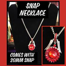 bold 20mm snap pendant necklace