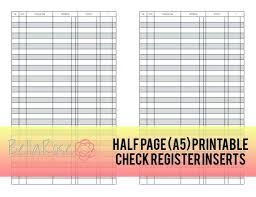Free Check Registers Online Printable Register Front And Back – Vuezcorp
