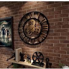 industrial gear wall clock decorative