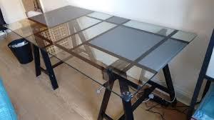 ikea glass office desk. IKEA Desk With Glass Top - Office Furniture \u0026 Equipment Ikea H
