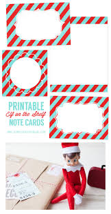 Printable Note Cards Printable Elf On The Shelf Note Cards