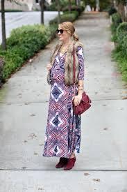 Pink Blush Maternity Navy Print Draped Maternity Maxi Dress