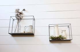 metal cube display shelf wall box art