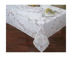 72 round crochet vinyl lace tablecloth white by elrene