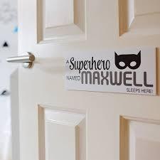 personalised superhero door sign plaque