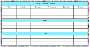 Blank Schedule Blank Printable Weekly Schedule Template Time Chart Best