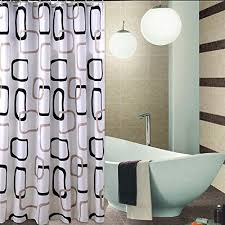 108 inches extra wide shower curtain by 78 inches long welwo fabric shower curtain liner with hooks rings set for bathroom black gray and white geometric