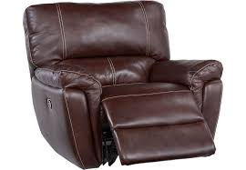 browning bluff brown leather glider recliner from furniture browning furniture