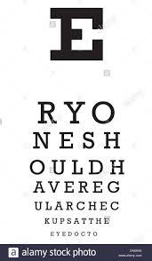 Eye Chart Vector Stock Vector Art Illustration Vector