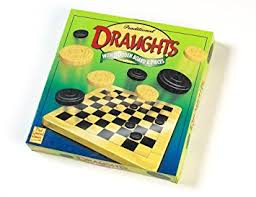Wooden Board Games Uk Traditional Draughts with Wooden Board Pieces Amazoncouk 61