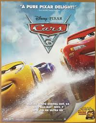 original cars movie poster.  Original This Is An Auction For A BRAND NEWUNUSED Near Mint Condition Single Sided  ORIGINAL US DVD Mini Sheet Poster The Movie CARS 3 Directed By BRIAN FREE  And Original Cars Movie Poster O