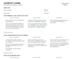 Construction Employee Review Template 6 Month Employee Review Template Probationary Period
