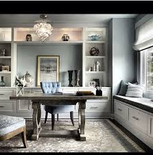 grey home office. 50 home office design ideas that will inspire productivity window storage and modern grey e