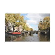 amsterdam c bridge houseboat church spire canvas print xmas eve eve