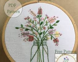 Embroidery Patterns Free Delectable Hand Embroidery Patterns Etsy