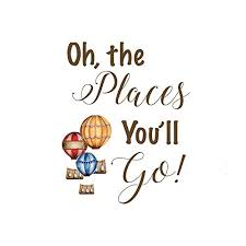 Dr Seuss Oh The Places You Ll Go Quotes Adorable Amazon Oh The Places You'll Go Quote Print Dr Seuss Nursery