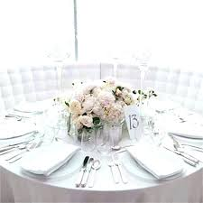 Round Table Settings For Weddings Round Table Centerpiece Ideas Mossdental