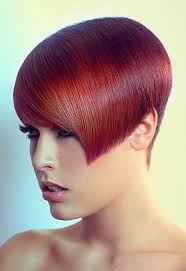short wedge hairstyles colorful b over