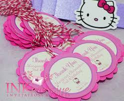 pink purple hello kitty invitation inkpressive invitations hello kitty favor tags