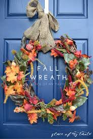 Fall Wreath Quick And Easy Fall Wreath From The Dollar Store