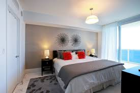 contemporary bedroom decor. Interesting Baroque Coral Accent Pillow Technique Miami Contemporary Bedroom And Grey Living Room Decor