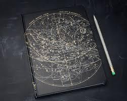 Tea Star Chart Star Chart Night Sky Hardcover Notebook Dot Grid Graph