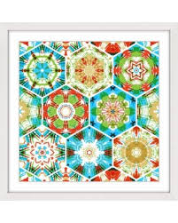 marmont hill paisley hexagons framed painting wall art print mh abgeo 189  on paisley print wall art with amazing deal on marmont hill paisley hexagons framed painting wall