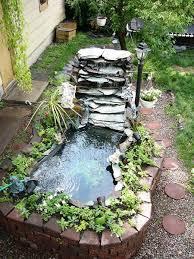 outdoor above ground pond waterfalls