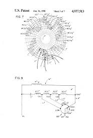 patent us4937513 tapped auxiliary winding for multi speed pedestal fan winding connection at Pedestal Fan Motor Wiring Diagram