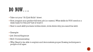 take out your a z job skills sheet now imagine your perfect take out your a z job skills sheet 61607 now imagine your perfect full