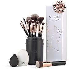 niré beauty makeup brush set make up brushes with brush case beauty blender and