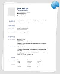 One Page Resume Template Cool Clean One Page Resume Template