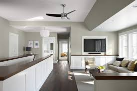 Along with all the steps, including garage paint for a basement floor needs to have a lot of 'solids' in the solution, and that. Minneapolis Paint Ideas For Basement Walls Family Room Traditional With White Panels Transitional Ceiling Fans Fan Light