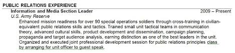 my resume how should i address my military experience on my resume the