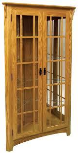 Corner Kitchen Curio Cabinet Mission Corner Curio Cabinet From Dutchcrafters Amish Furniture