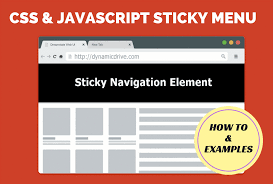 how to add a css and javascript sticky menu plus 7 beautiful exles