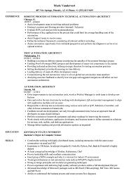 Test Automation Architect Resume Automation Architect Resume Samples Velvet Jobs 1