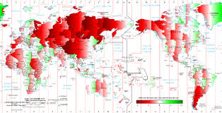 Time Map How Wrong Is Your Time Zone Map Shows How Far World Clocks