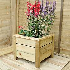 garden planters. Forest Garden Square Planter - 350 X 410 410mm Planters